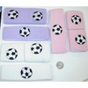 SWEATBAND SET IN PASTEL COLORS AND WHITE WITH A SOCCER BALL