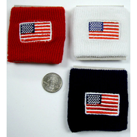 FLAG ON RED, WHITE OR NAVY BLUEWRIST BAND
