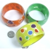 FUN GOOD QUALITY BRACELETS WITH COLORFUL DOTS