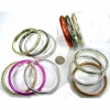 3 METALLIC COLOR BANGLE SET