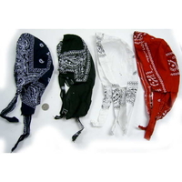 BIKER STYLE HEADWRAP IN 4 ASSORTED COLORS