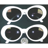 JACKIE O WHITE FRAMES WITH DARK LENS
