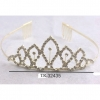 GOLD COLOR TIARA WITH GEM IN CENTERS