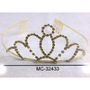 GOLD COLOR TIARA IF LASS THAN A DZ PRICE IS .50 EACH.