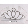 SILVER COLOR TIARA, CIRCLE TOP