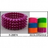 4 ROWS OF SPIKE BRACELETS IN 6 NEON  COLORS