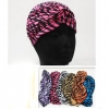 TURBIN STYLE HEADPEACE WITH ZEBRA STRIPE ON ASSORTED COLORS