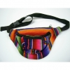 COLORFUL SOUTHWEST/MEXICAN COLORS FABRIC FANNY BAG