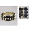 SPIKE BANGLE BRACELET ROUND SHAPE WITH 3 ROWS OF SPIKES