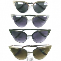 CAT EYE SHAPE METAL FRAMES GOLD, SILVER, GUN METAL
