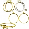 CLIP ON HOOP EARRINGS IN GOLD AND SILVER