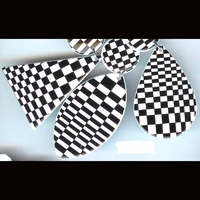 CHECKER BOARD 3 CLASSIC EARRINGS