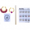 NOSE SEPTUM RINGS, 7 GEMS AND 1 GEM PIECES PER PACK