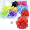 FLOWER  HAIR CLIP, 4 INCH DIAMETER, ASSORTED COLORS