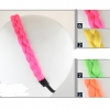 NEON COLOR BRAIDED HEADBANDS