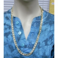 GOLD METAL CHAIN NECKLACE ADJUSTABLE LENGTH 29-31 INCHES