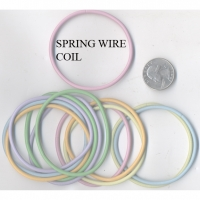 METAL COIL SPRING WIRE BRACELETS SETS ON PASTEL COLORS