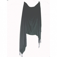 BLACK SCARF 70X29 INCHES MADE IN INDIA  PASHMINA