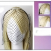 HEADBAND WITH FACE NET IN BLACK AND WHITE