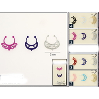 3 PIECE NOSE SEPTUM RING SETS NOSE CLIPS