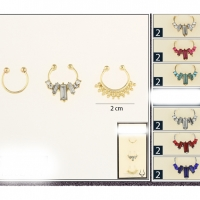 NOSE SEPTUM RINGS 3 PIECE SETS