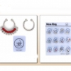 SILVER NOSE CLIP SETS 1 WITH COLOR GEMS AND THE OTHER IS PLAIN