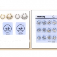 GOLD AND SILVER NOSE CLIP SETS WITH GEMS