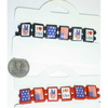 USA STRETCH BRACELETS WITH ASSORTED STICKERS