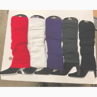 5 ASSORTED COLORS LEG WARMERS