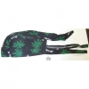 "GREEN LEAF AND ""BLUNT"" PRINT ON A HEADWRAP"