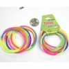 SILICONE RUBBER RAINBOW STYLE COLOR BRACELETS ribbed look