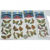 BUTTERFLY STICKERS METAL  FOIL LOOK, ASSORTED STYLES
