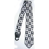 SKULLS & CROSSBONES IN A BLACK & WHITE CHECKERBOARD NECKTIE