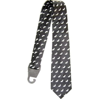 BATS ON A BLACK NECKTIE