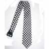 BLACK & WHITE CHECKERBOARD NECKTIES