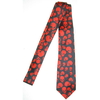 SKULLS RED ON A BLACK NECKTIE