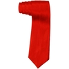 RED NECKTIE, HE WEARS A RED TIE.