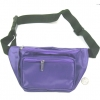 PURPLE COLOR SHINY MATERIAL FANNY BAG