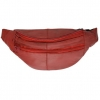 RED LEATHER FANNY BAG