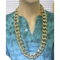 GOLD CHAIN NECKLACE, 36 INCHES LONG,  our thickest