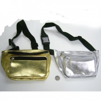 SHINY GOLD AND SILVER FANNY BAGS