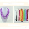 60 INCH ASSORTED COLOR PEARL LOOKING NECKLACE IN PLASTIC