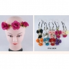 3 FLOWERS HEADBAND IN ASSORTED COLORS