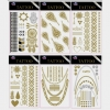 TATTOOS GOLD/SILVER  6 DIFFERENT DESIGNS