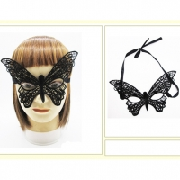 BUTTERFLY LACE FACE MASK, TIE UP BACK