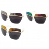 REVO MIRROR TOP PART DARK LENS SUNGLASSES WITH GOLD HIGHLIGHTS