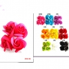 DOUBLE FLOWER HAIR CLIP IN ASSORTED COLORS