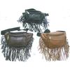 FRINGE FANNY BAG IN BLACK, & 2 SHADES OF BROWN