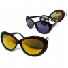 CAT JACKIE O STYLE FRAMES WITH REVO LENS SUNGLASSES