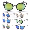 CAT STYLE METAL FRAMES, POINTY WITH REVO LENS SUNGLASSES